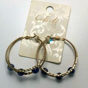 NWT| Golden Large Hoops Earrings